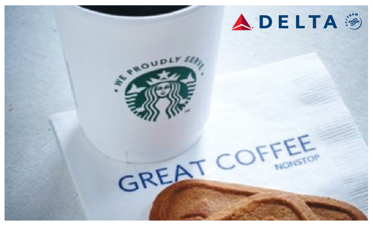 Delta lleva a volar a Starbucks