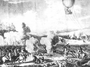 1909El globo fue utilizado en batallas como bombardero, y los globos empezaron a formar parte de los ejércitos.