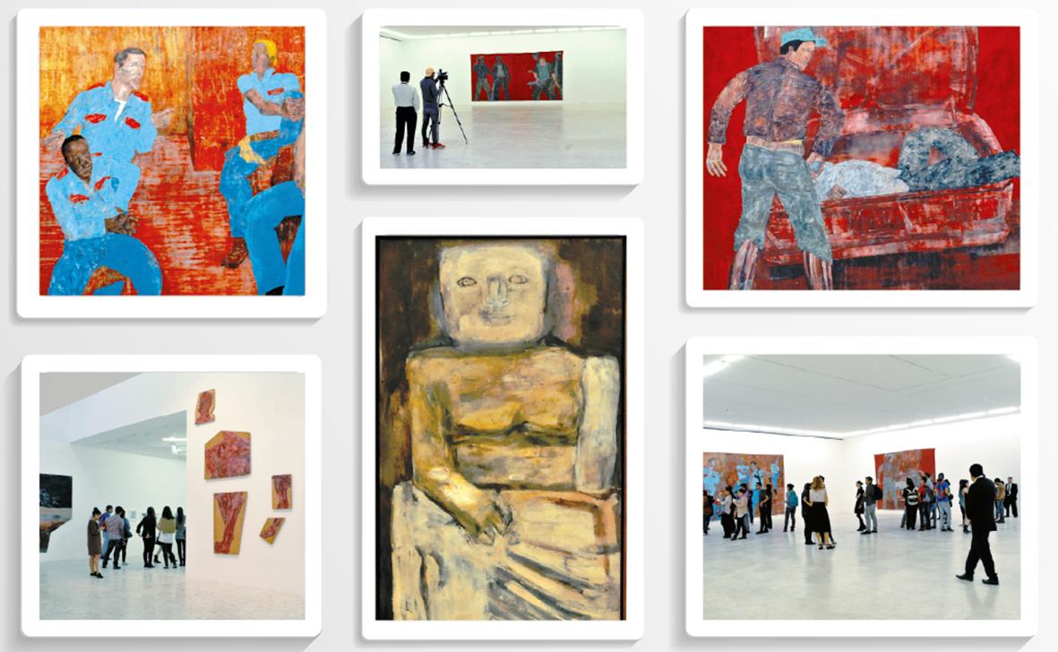 Obras de Leon Golub en el Museo Tamayo