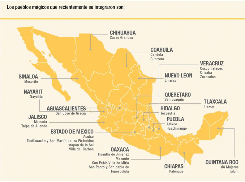 Con los 28 nuevos nombramientos, ya son 111 los pueblos mágicos con los que cuenta México