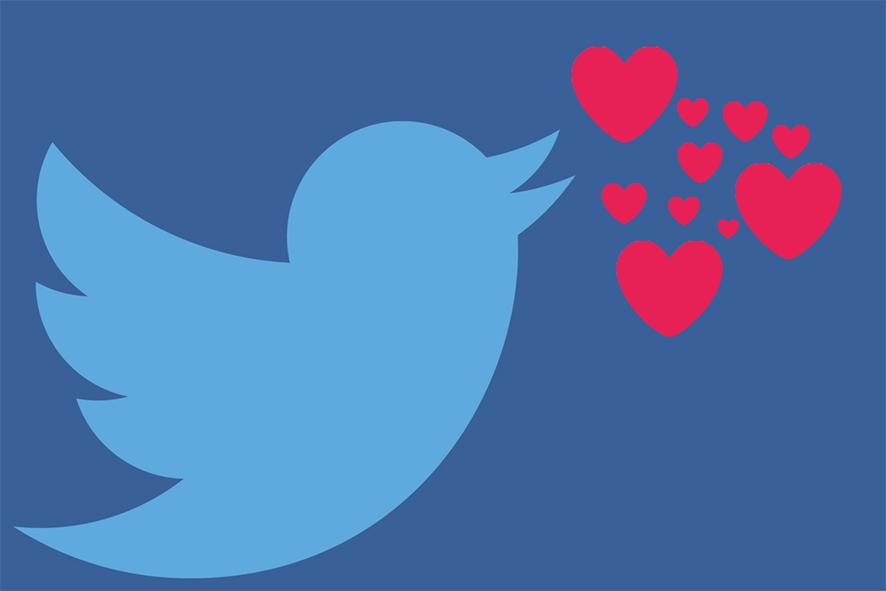 Twitter cambia estrellas por corazones