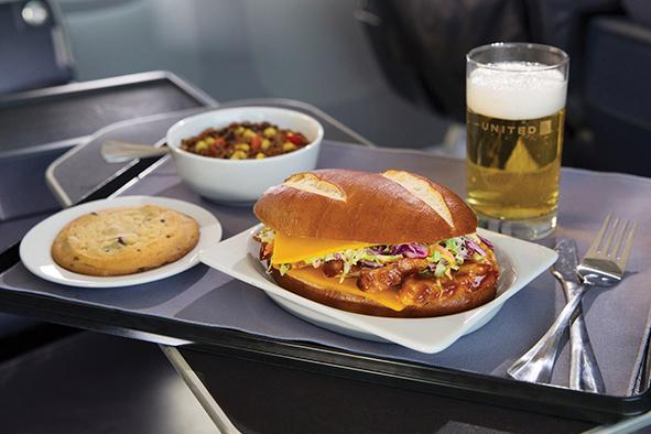 Nuevo menú de United Airlines