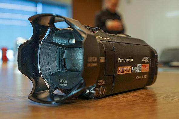 Videocámara de Panasonic graba en 4K