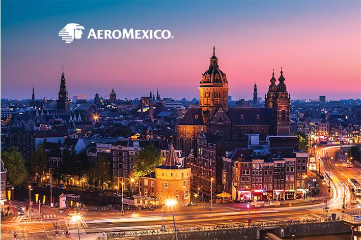Aeromexico llegará a Ámsterdam
