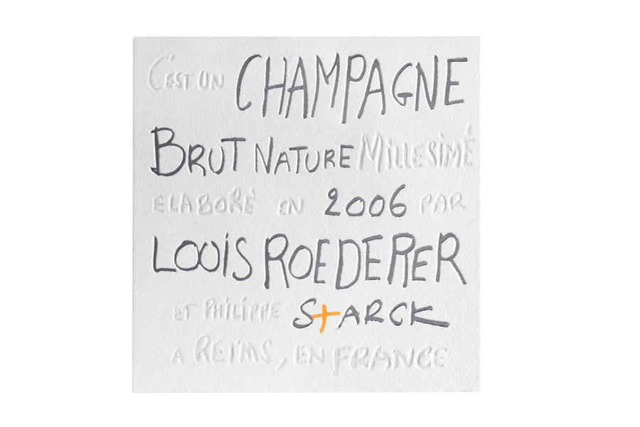 Champaña sin azúcar Louis Roederer