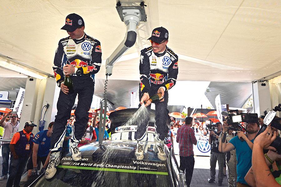 Los ganadores 1º Jari-Matti Latvala- Finlandia- Volkswagen 2º Sébastien Ogier- Francia- Volkswagen 3º Mads Østberg- Noruega- M-Sport World Rally Team