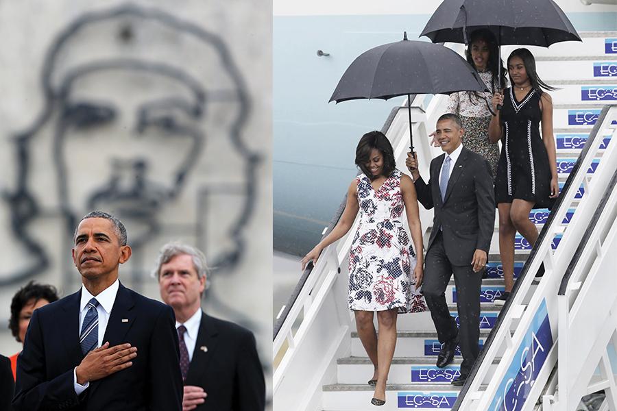 El presidente Obama en la plaza de la Revolución