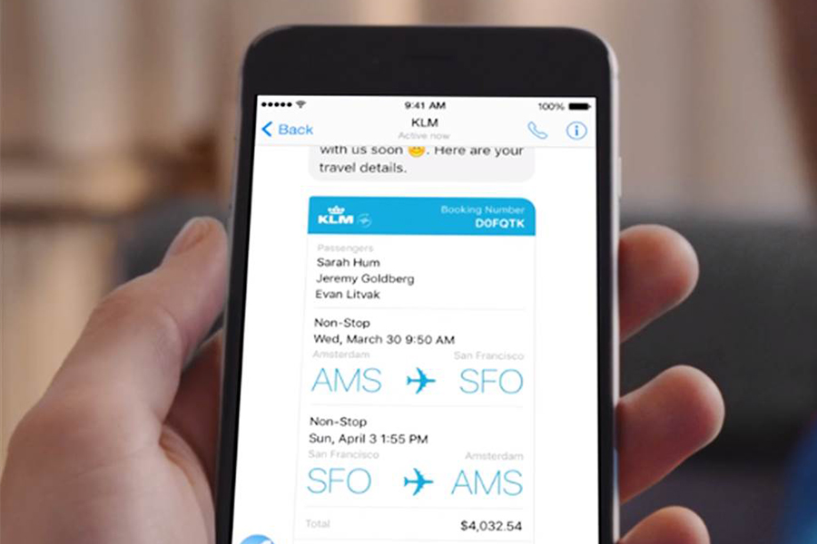 KLM y Facebook Messenger se unen para hacer check-in