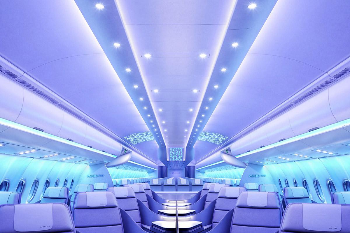 """Airbus y su tecnológica cabina """"Airspace"""""""
