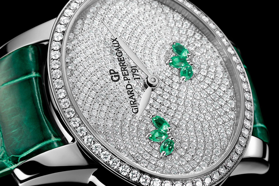 jet news Girard Perregaux cats aye green water lily