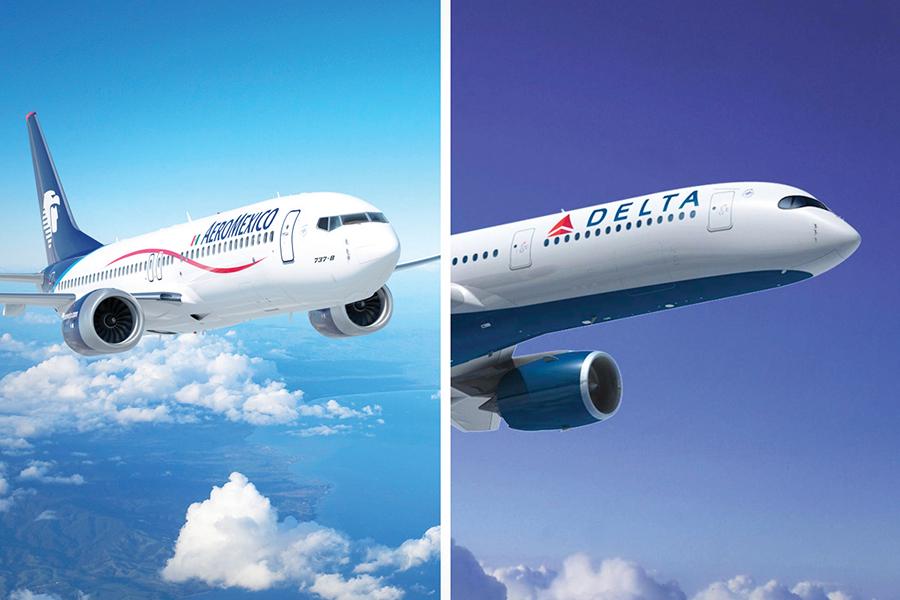 Delta y Aeroméxico con licencia para volar