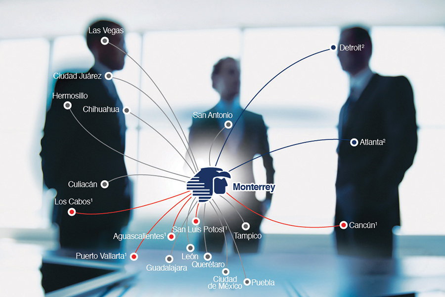 Aeroméxico incrementa conectividad desde  Monterrey