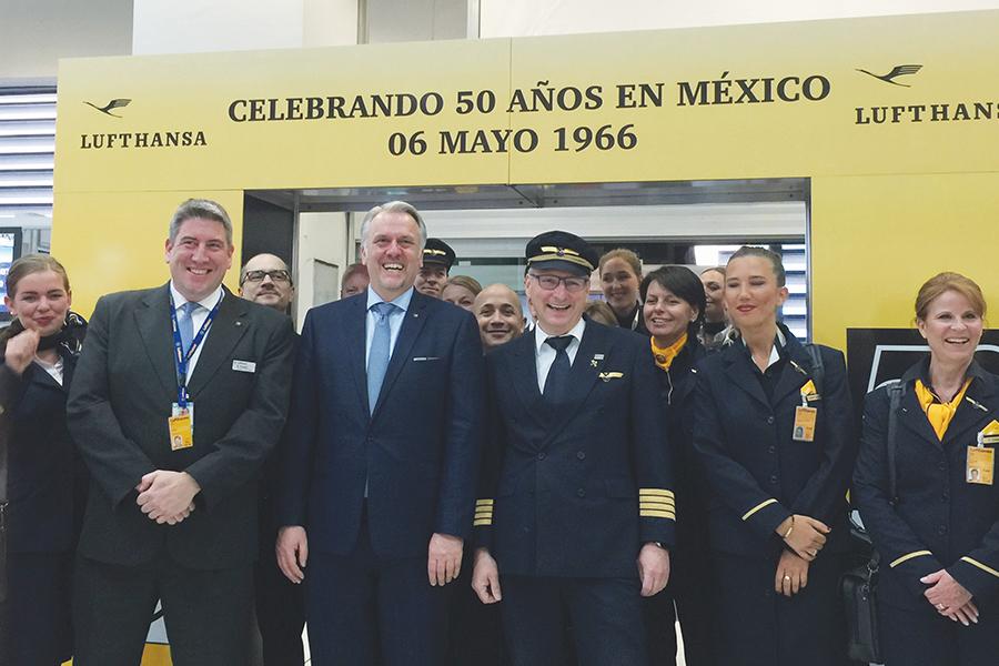 Lufthansa 50 años de presencia en México