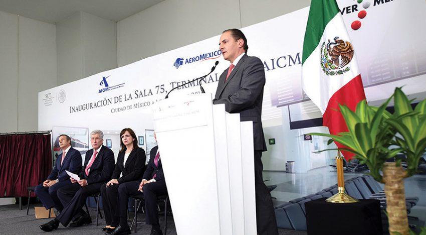 Alexandro Argudín, director general del Aeropuerto Internacional de la Ciudad de México.