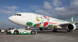 Hello Kitty abordo de Eva Air