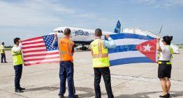 Primer vuelo entre Cuba y Estados Unidos, después de 55 años