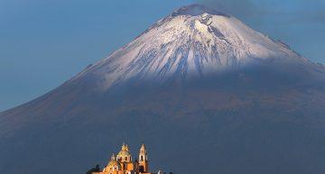 Puebla ciudad colonial con Ángel