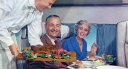 Menú aéreo en 1960