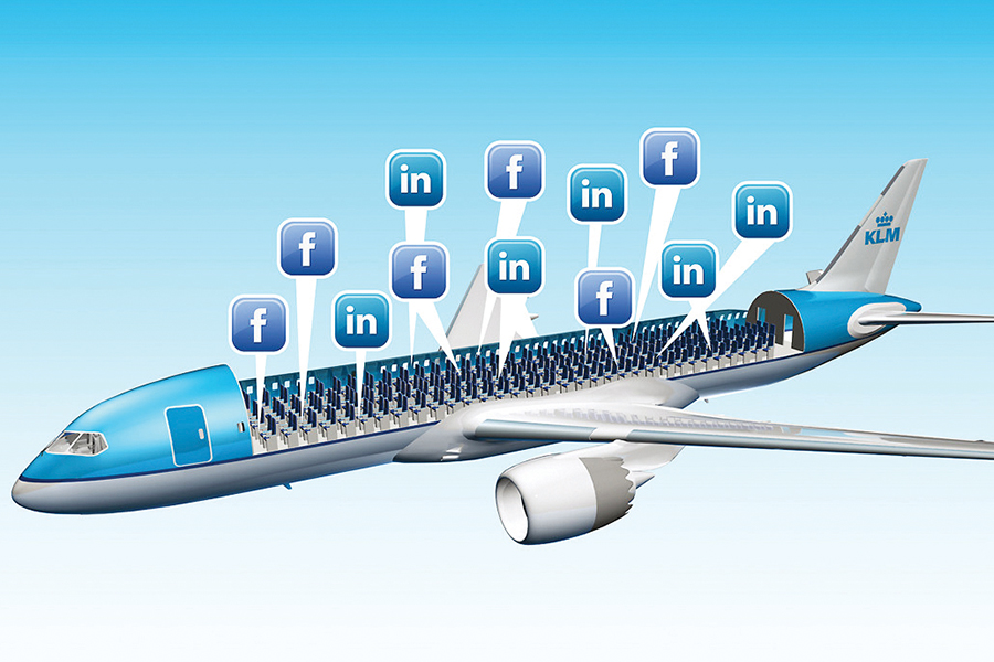 KLM servicio a través de redes sociales