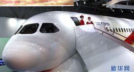 El primer jumbo chino: C919, tendrá su debút a mediados de julio