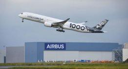 El A350-1000 tuvo su primer vuelo de larga distancia
