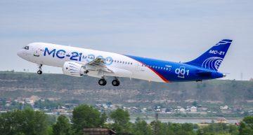 El avión comercial ruso MC-21-300 realiza su primer vuelo