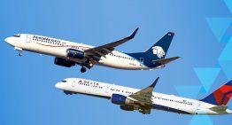 Aeroméxico y Delta Air Lines anuncian nuevas rutas