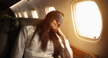 Consejos para descansar durante el vuelo