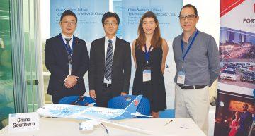 YingJun Wu, Diego Jiang, Beatriz Quintero y Alejandro Lemus de China Southern Airlines