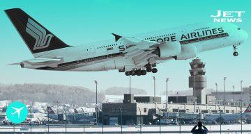 El primer Airbus A380 que espera estacionado a un nuevo operador