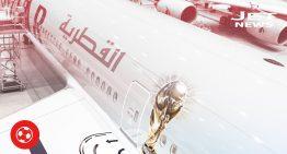 El avión oficial de la Copa del Mundo en Qatar 2022