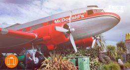 Un restaurante de comida rápida de altura
